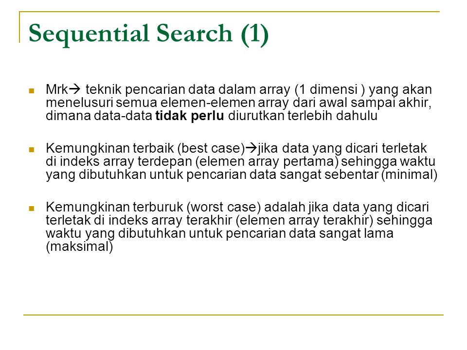 Sequential Search (1)