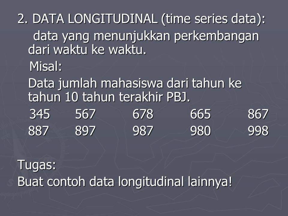 2. DATA LONGITUDINAL (time series data):