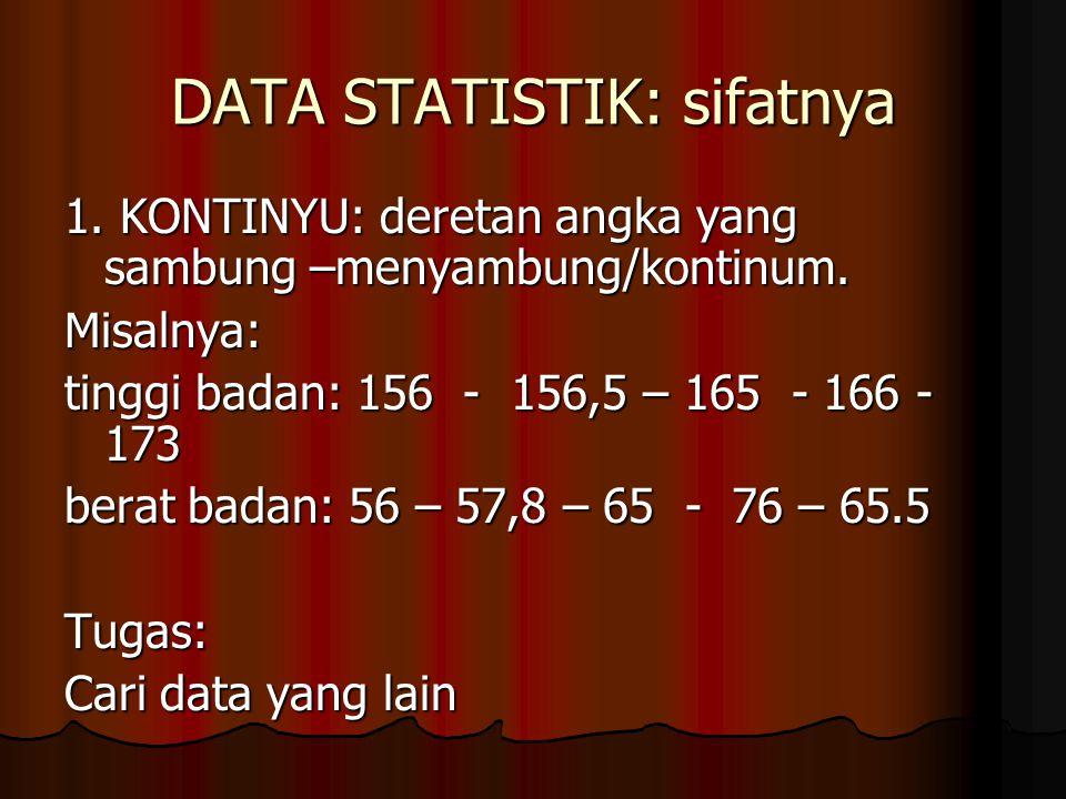 DATA STATISTIK: sifatnya