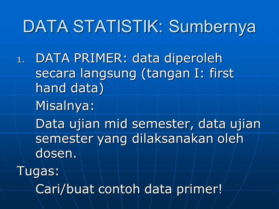 DATA STATISTIK: Sumbernya