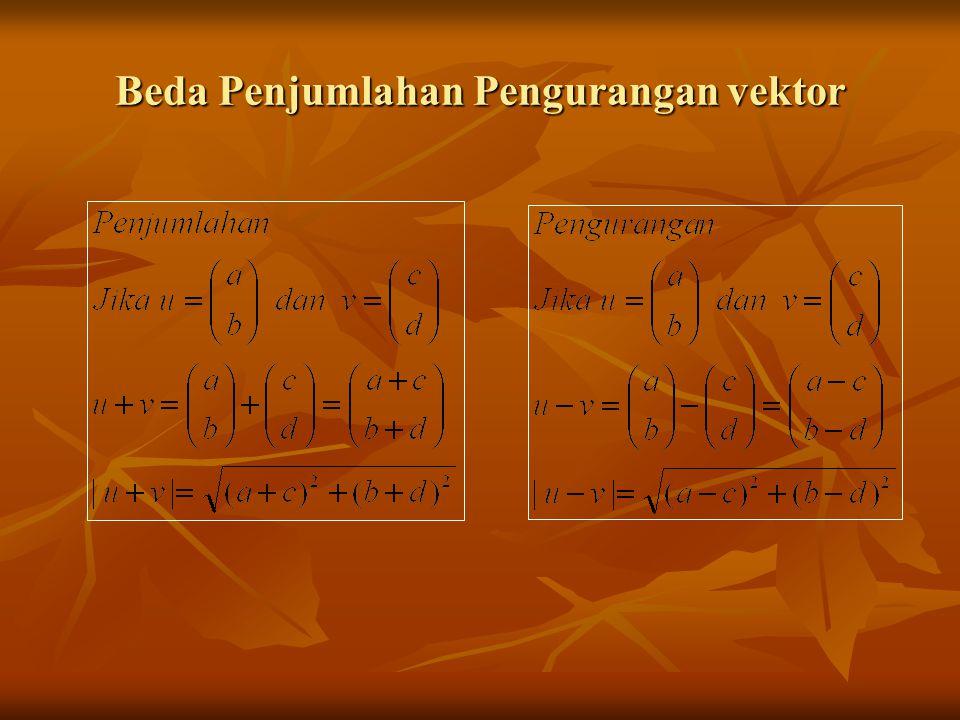 Beda Penjumlahan Pengurangan vektor