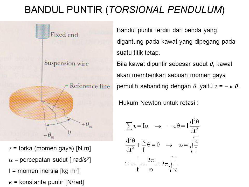 BANDUL PUNTIR (TORSIONAL PENDULUM)