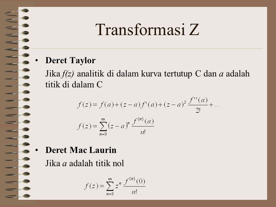 Transformasi Z Deret Taylor