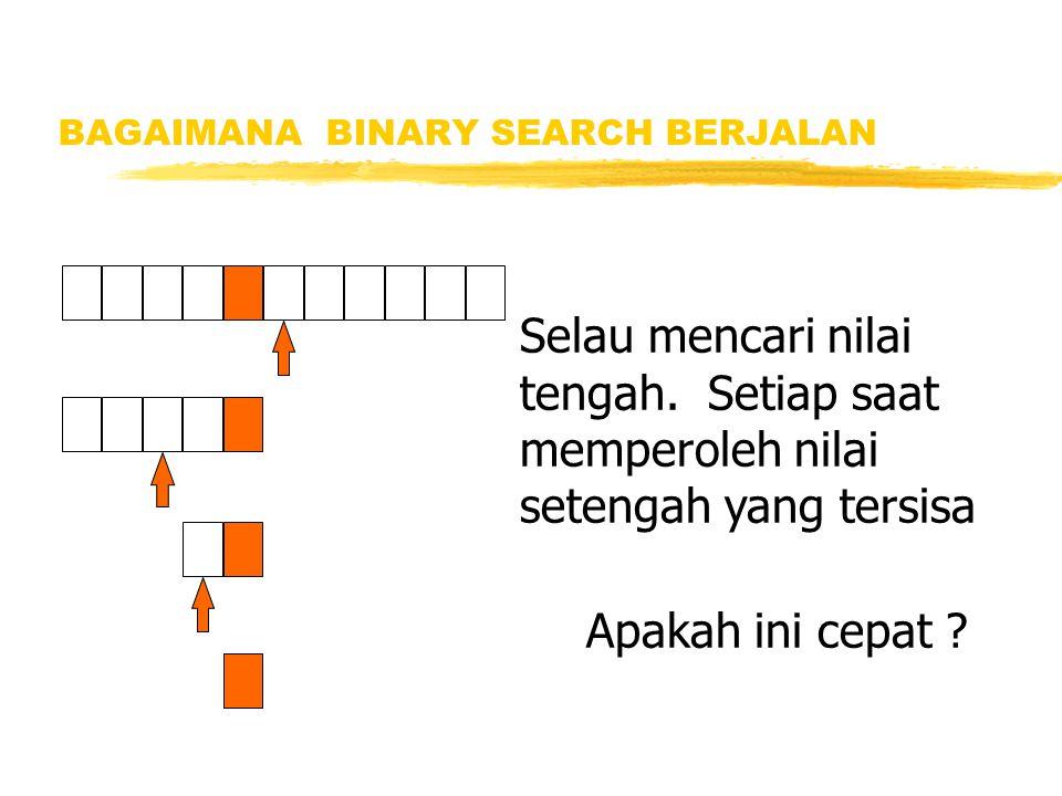 BAGAIMANA BINARY SEARCH BERJALAN