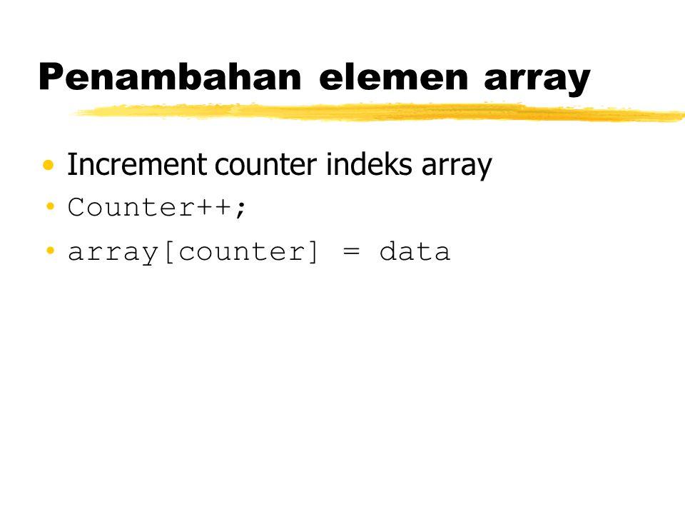 Penambahan elemen array