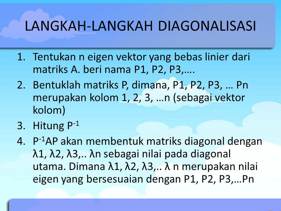 LANGKAH-LANGKAH DIAGONALISASI