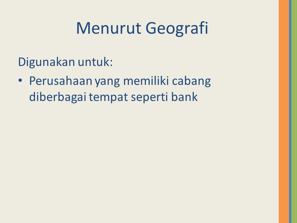 Menurut Geografi Digunakan untuk: