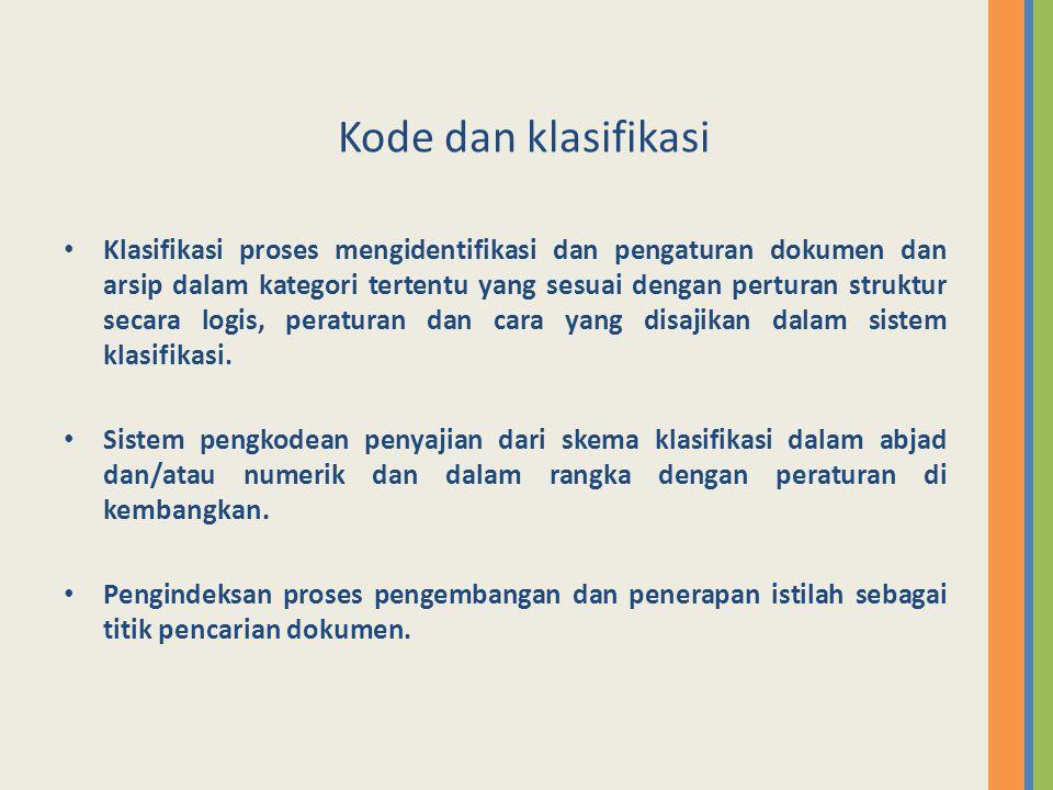 Kode dan klasifikasi