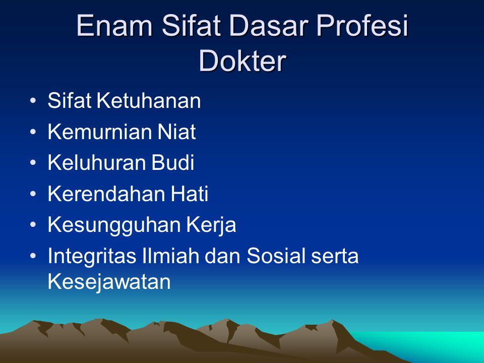 Enam Sifat Dasar Profesi Dokter