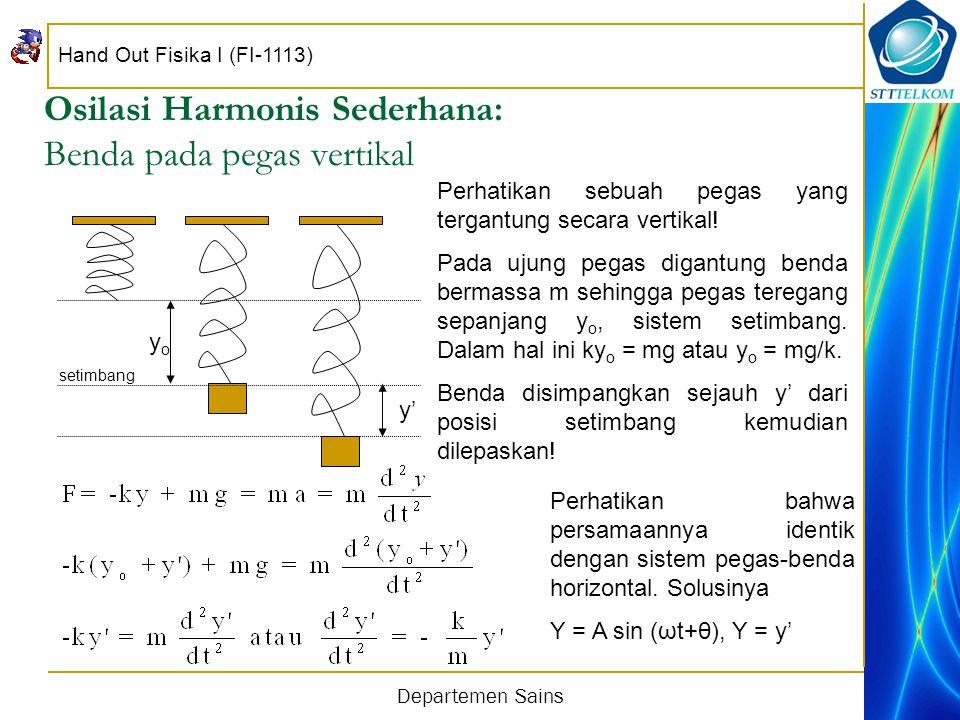 Osilasi Harmonis Sederhana: Benda pada pegas vertikal