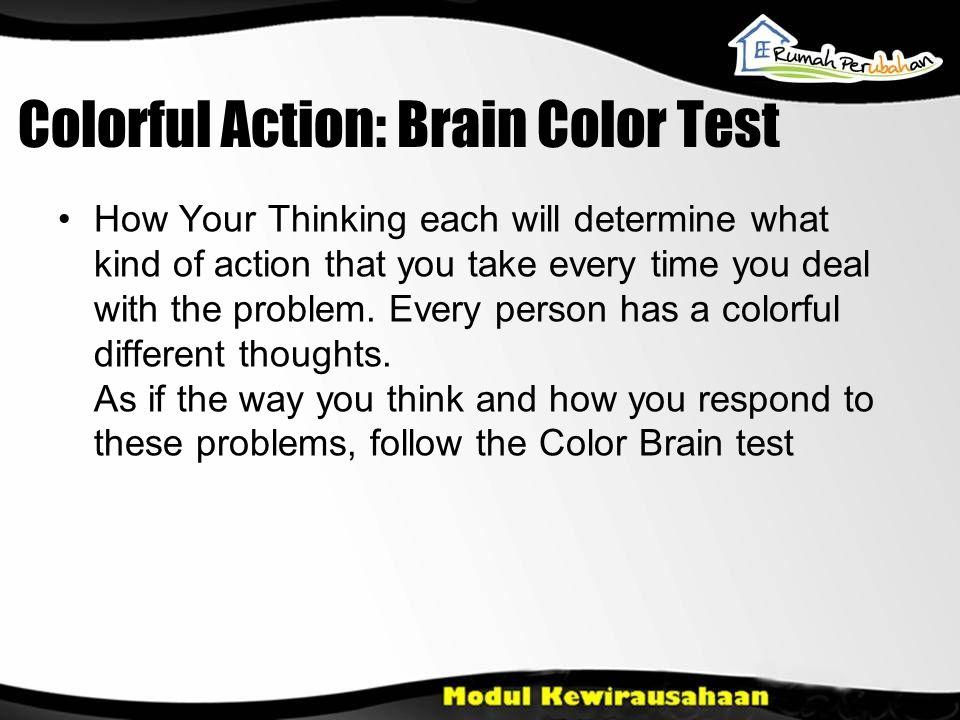 Colorful Action: Brain Color Test