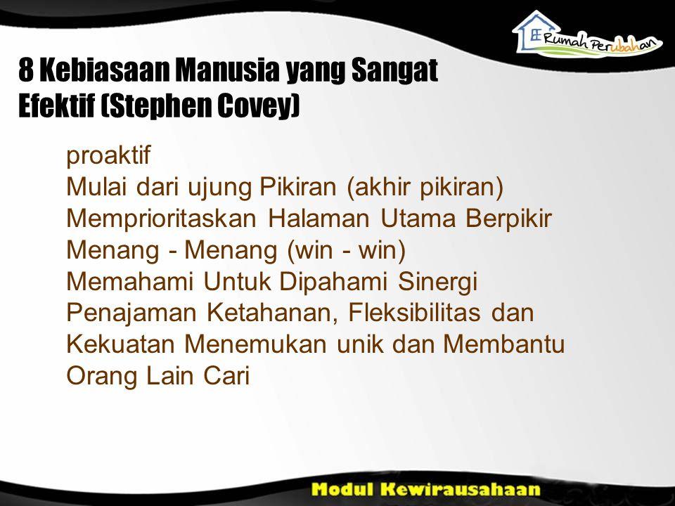 8 Kebiasaan Manusia yang Sangat Efektif (Stephen Covey)