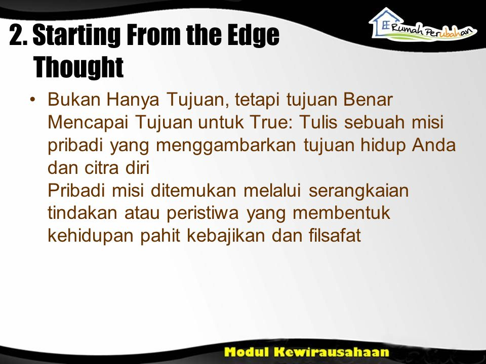 2. Starting From the Edge Thought