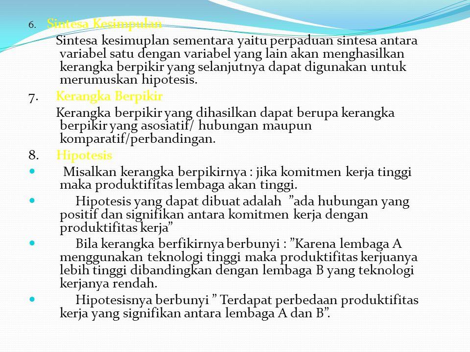 6. Sintesa Kesimpulan
