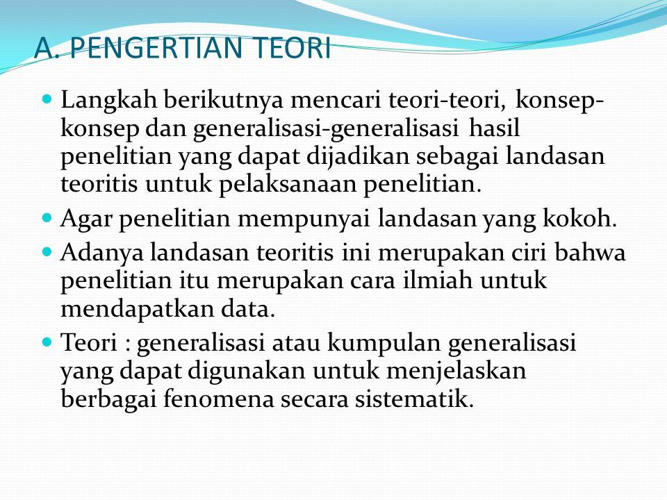 A. PENGERTIAN TEORI