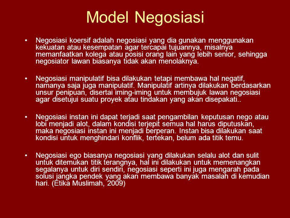 Model Negosiasi