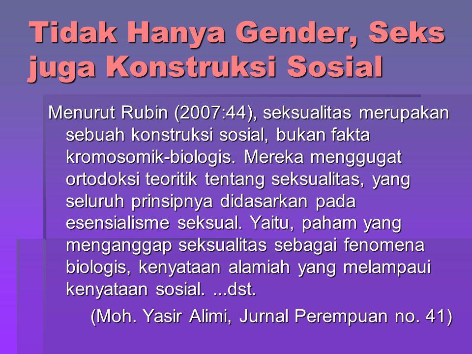Tidak Hanya Gender, Seks juga Konstruksi Sosial