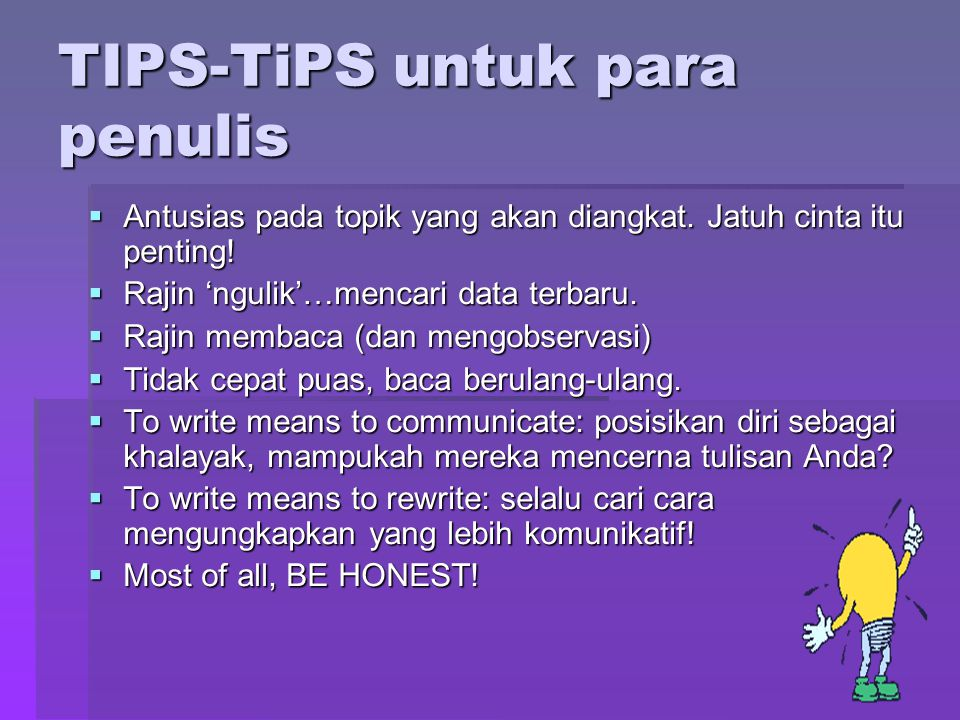 TIPS-TiPS untuk para penulis