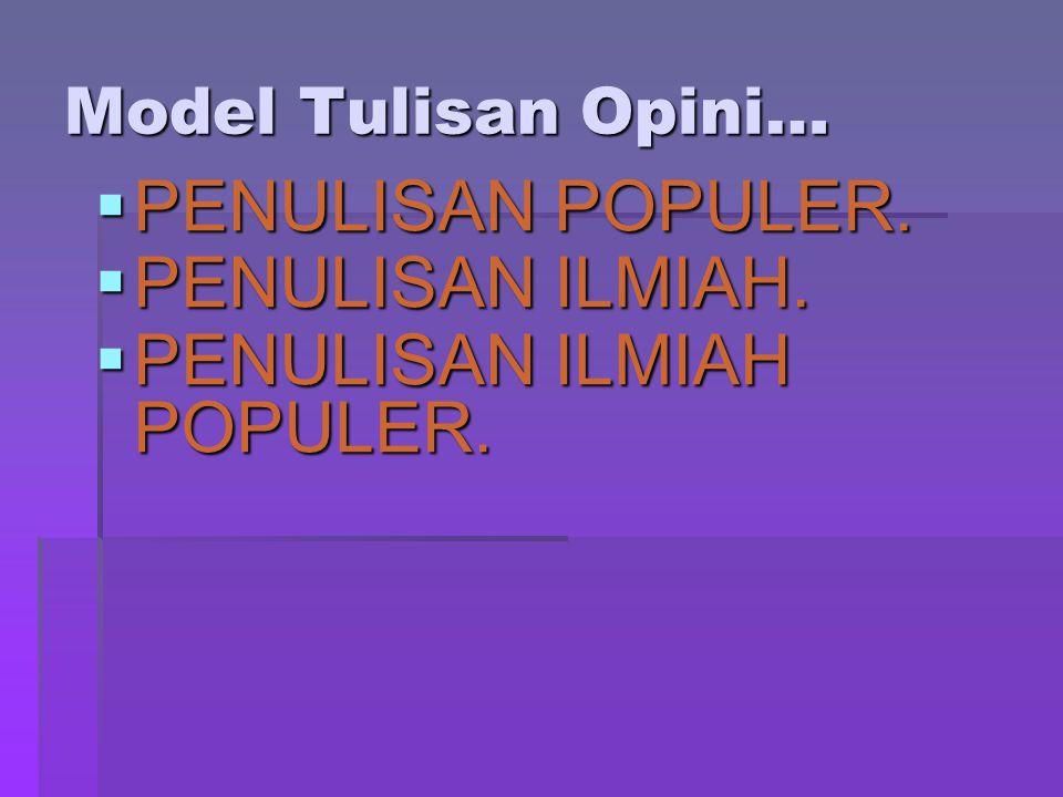 PENULISAN ILMIAH POPULER.