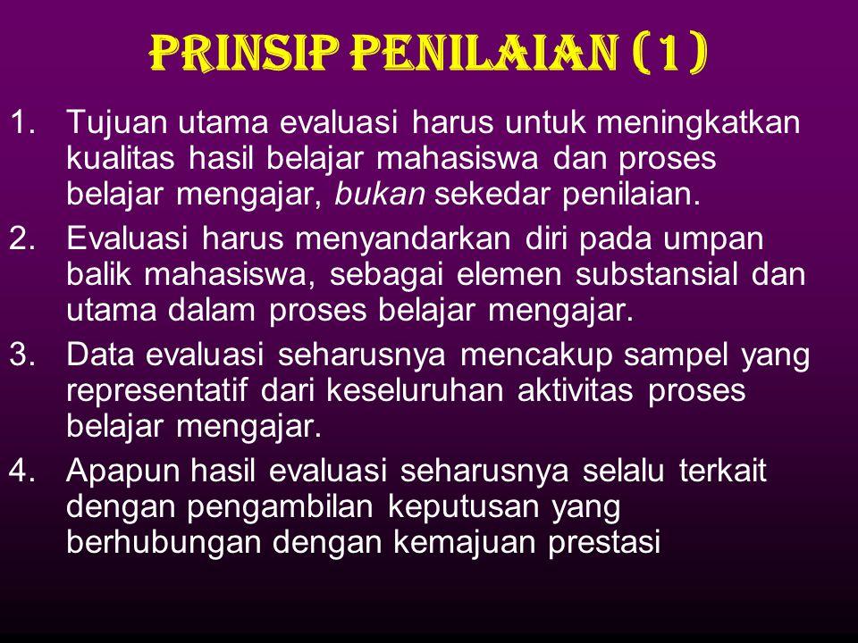 PRINSIP PENILAIAN (1)