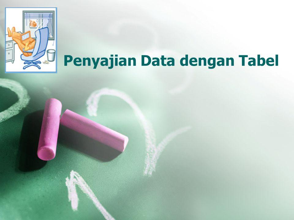 Penyajian Data dengan Tabel