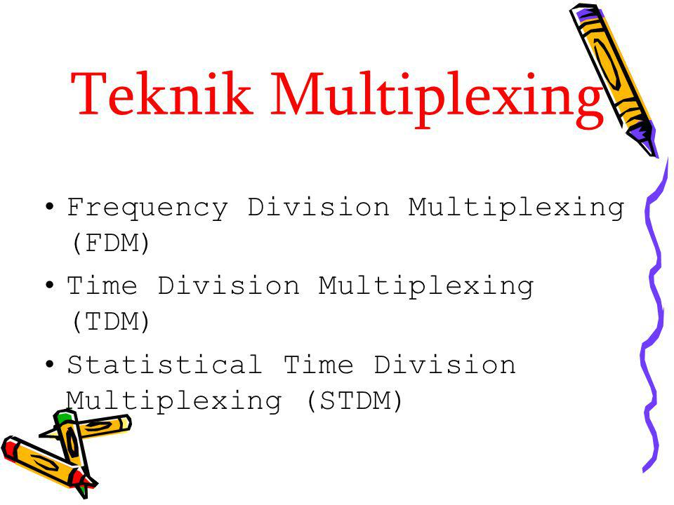 Teknik Multiplexing Frequency Division Multiplexing (FDM)