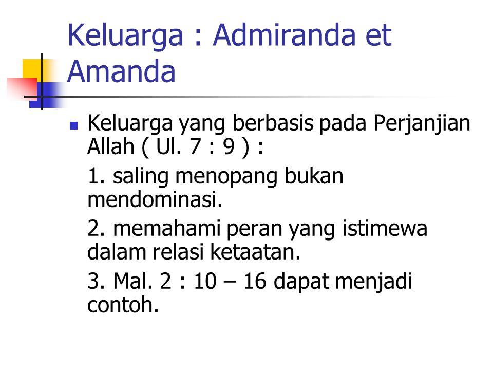 Keluarga : Admiranda et Amanda