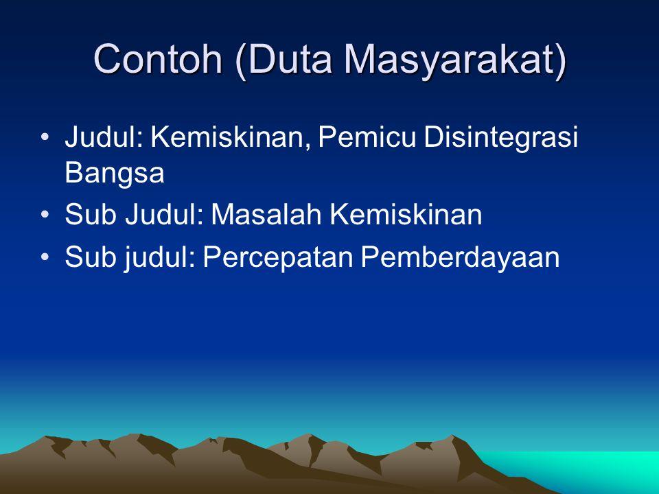 Contoh (Duta Masyarakat)