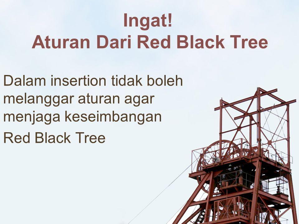 Ingat! Aturan Dari Red Black Tree
