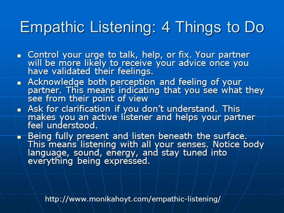 Empathic Listening: 4 Things to Do