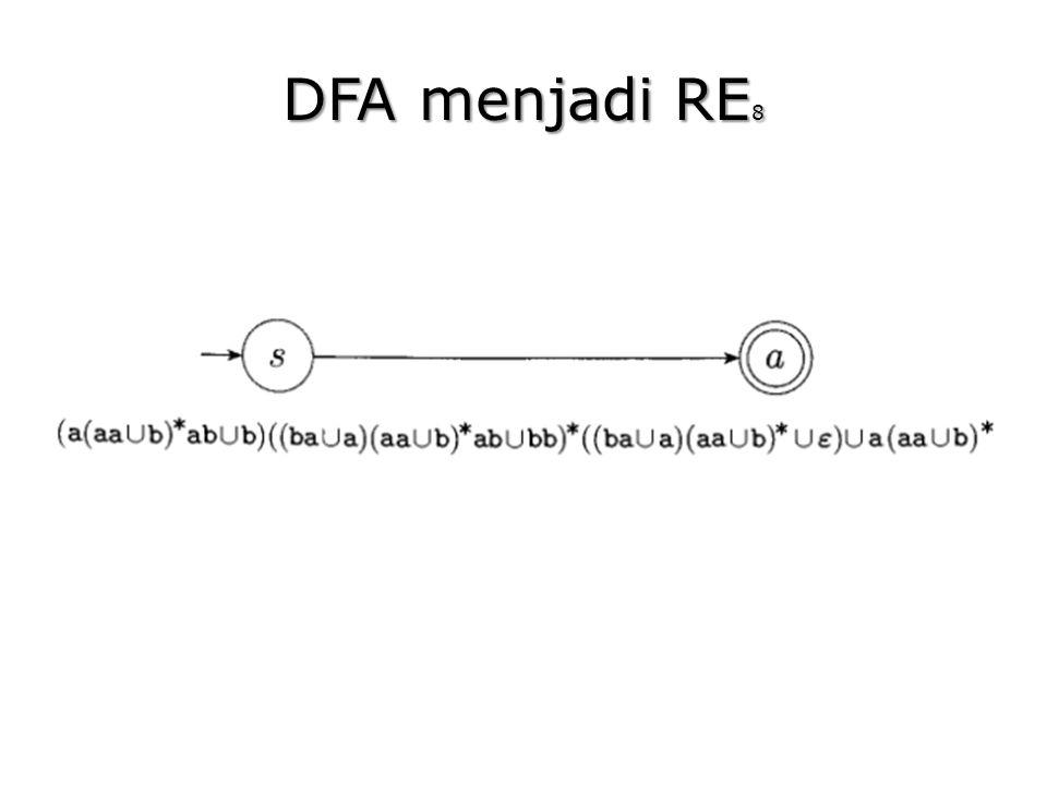 DFA menjadi RE8