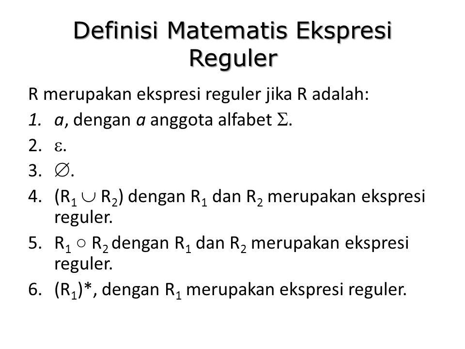 Definisi Matematis Ekspresi Reguler