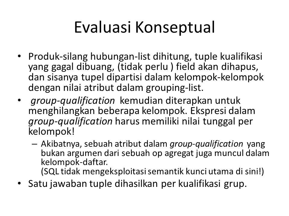 Evaluasi Konseptual