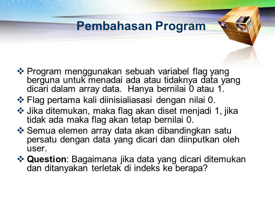 Pembahasan Program