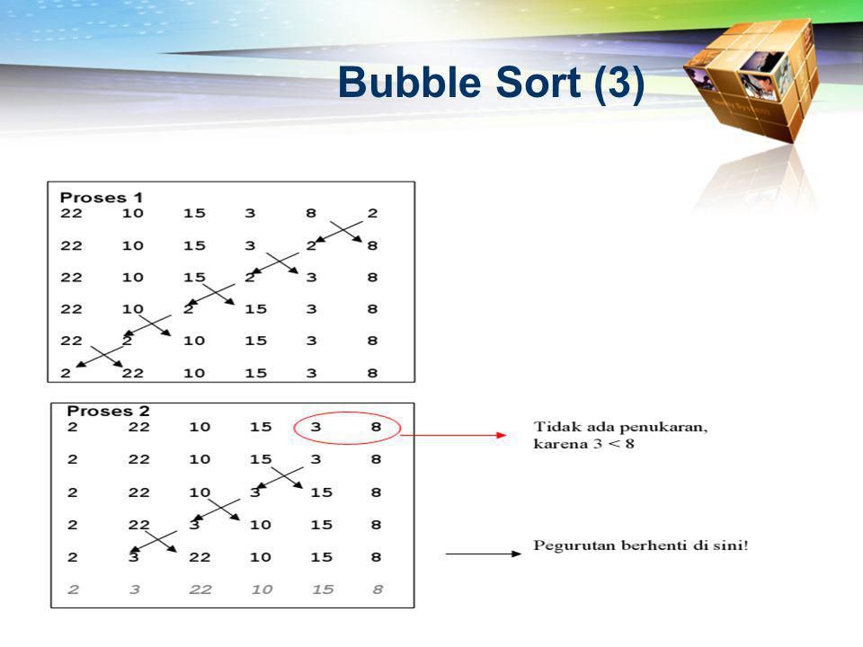 Bubble Sort (3)