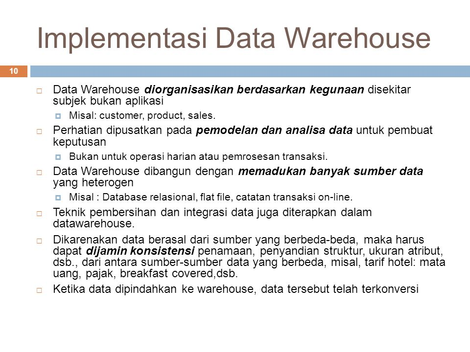 Implementasi Data Warehouse