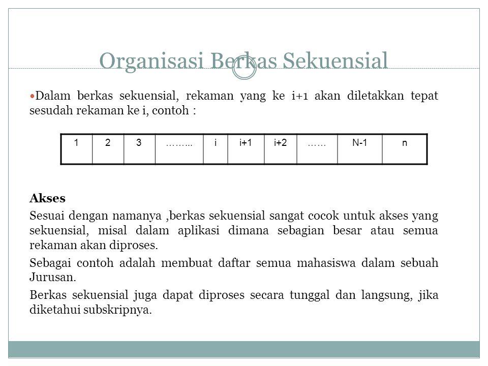 Organisasi Berkas Sekuensial