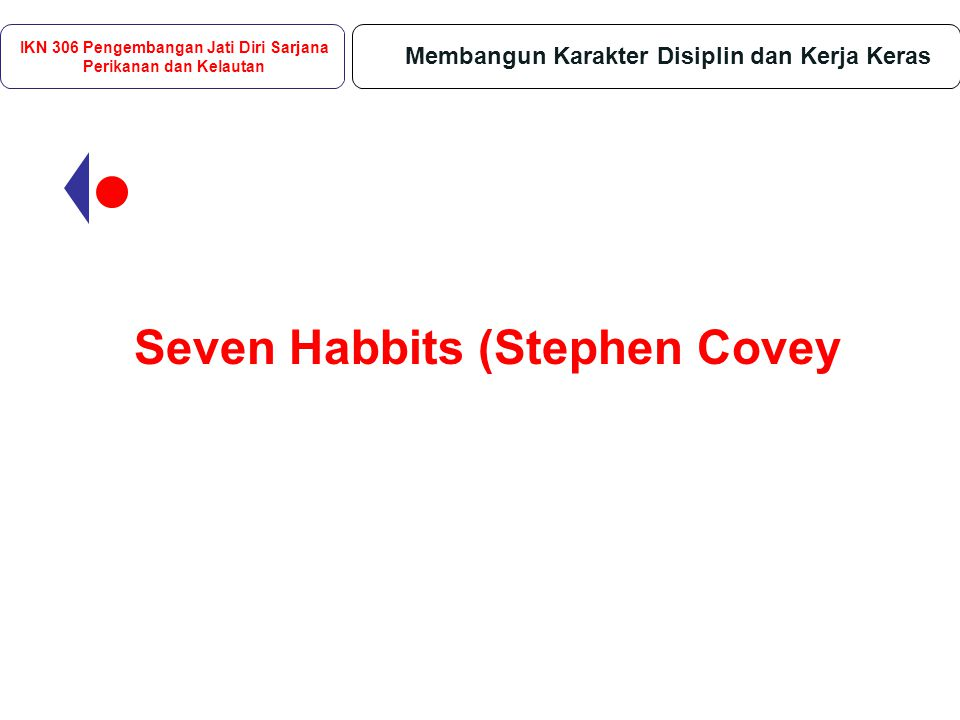 Seven Habbits (Stephen Covey