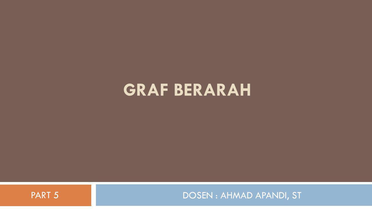 Graf Berarah PART 5 DOSEN : AHMAD APANDI, ST