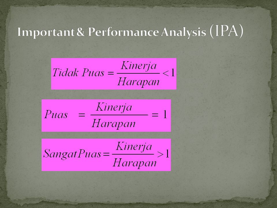 Important & Performance Analysis (IPA)
