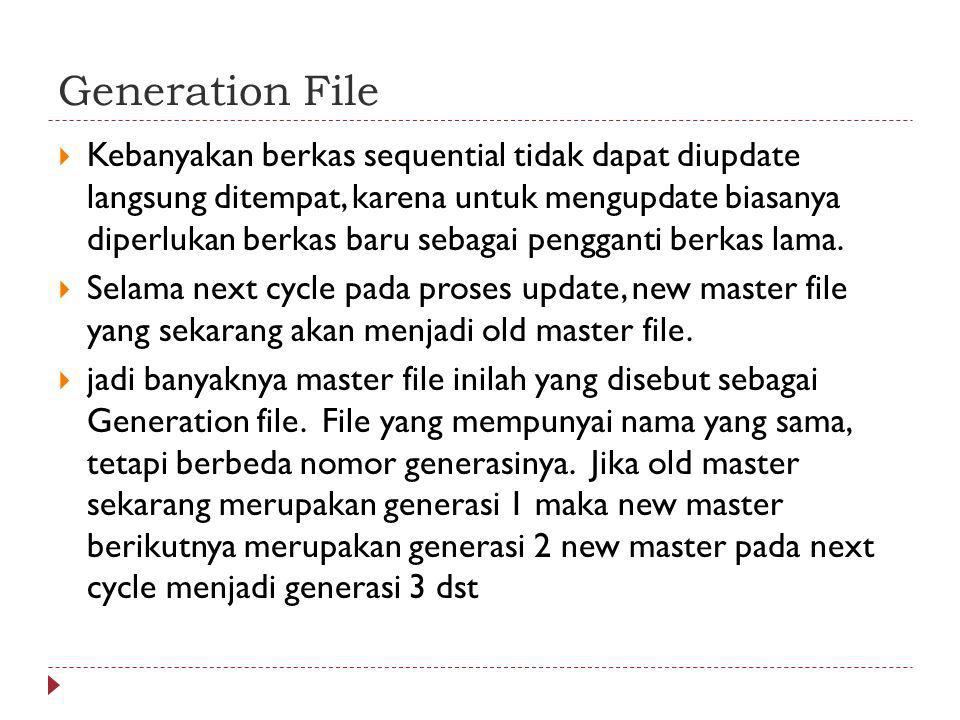 Generation File