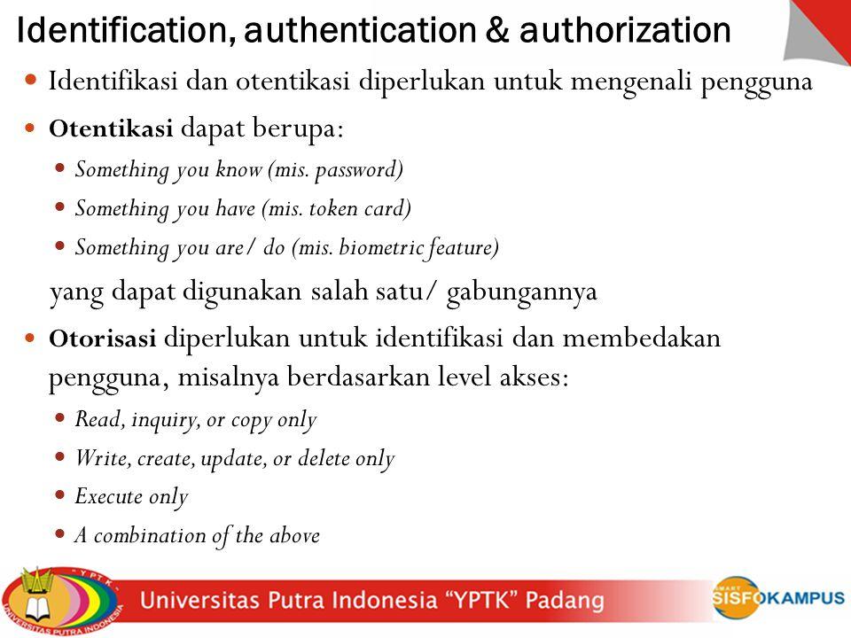 Identification, authentication & authorization
