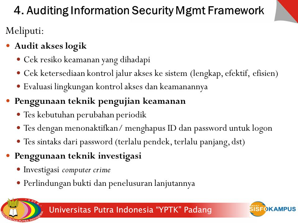 4. Auditing Information Security Mgmt Framework