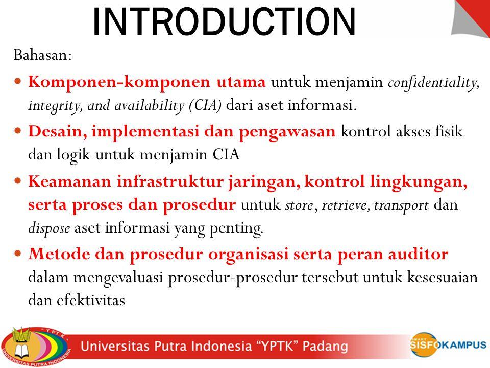 INTRODUCTION Bahasan:
