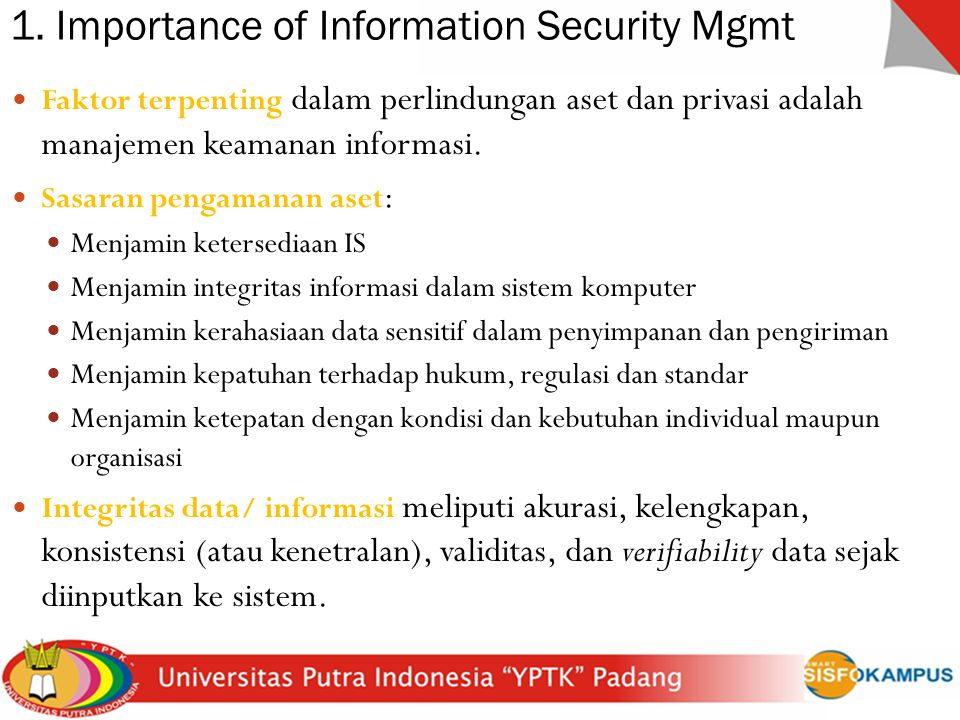 1. Importance of Information Security Mgmt