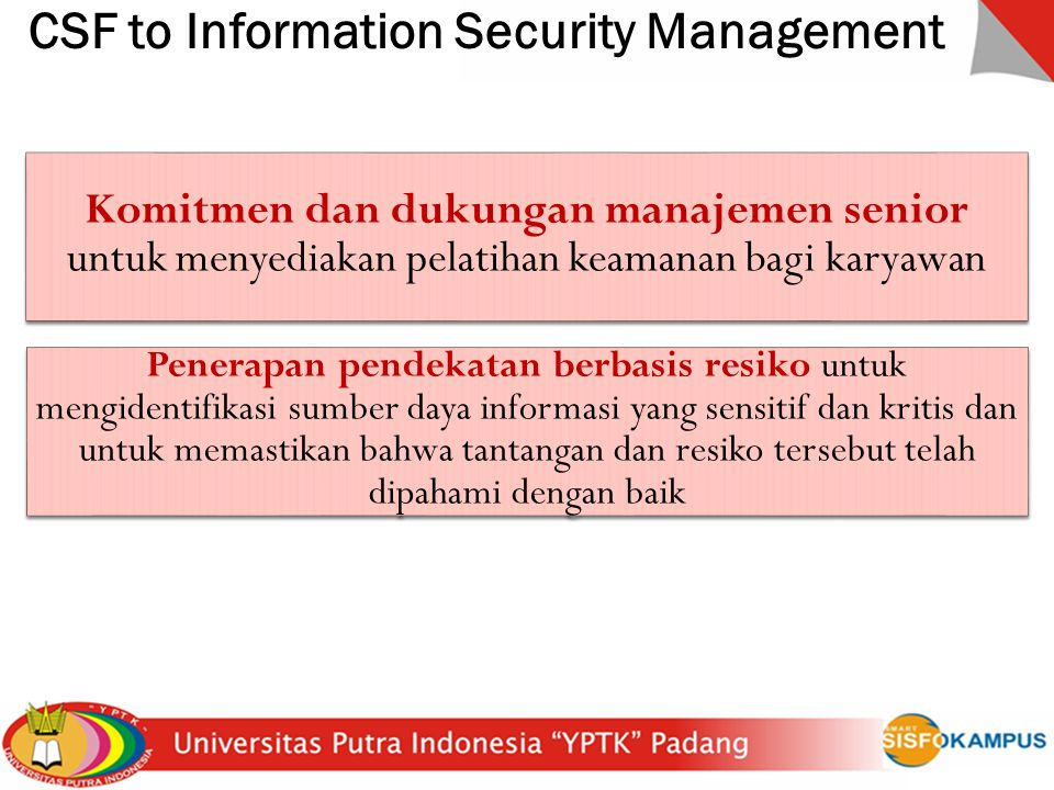 CSF to Information Security Management