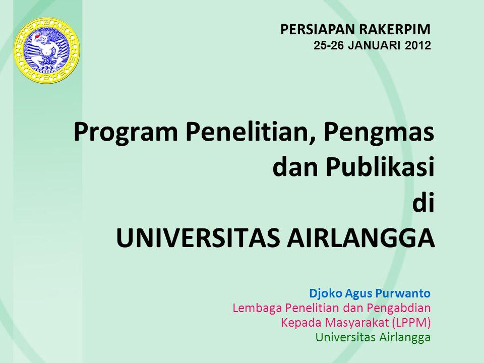 Program Penelitian, Pengmas dan Publikasi di UNIVERSITAS AIRLANGGA