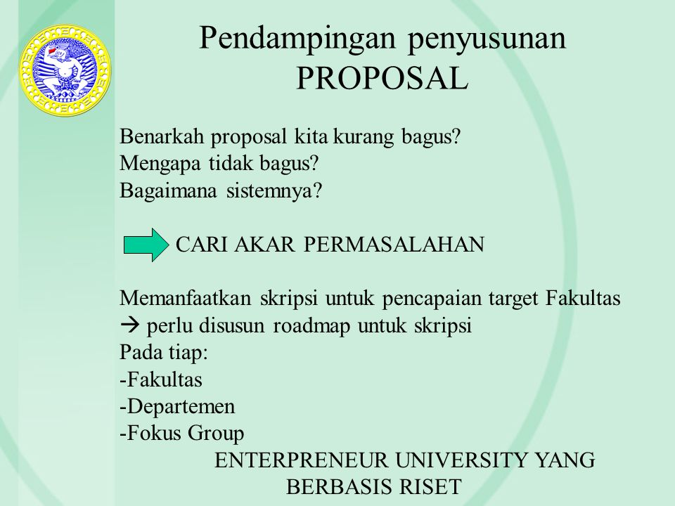 Pendampingan penyusunan PROPOSAL