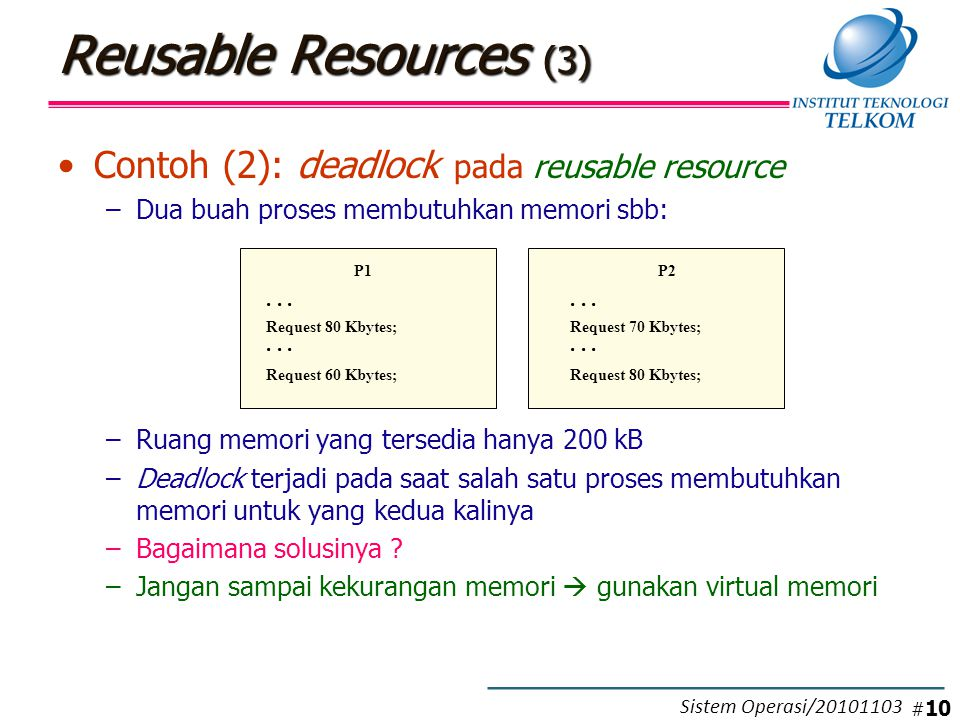 Consumable Resources (1)