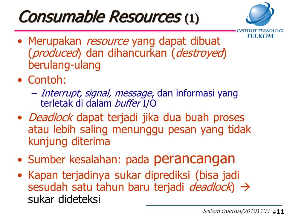 Consumable Resources (2)